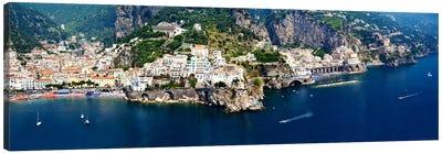 Aerial View, Amalfi Coast, Salerno, Campania, Italy Canvas Art Print