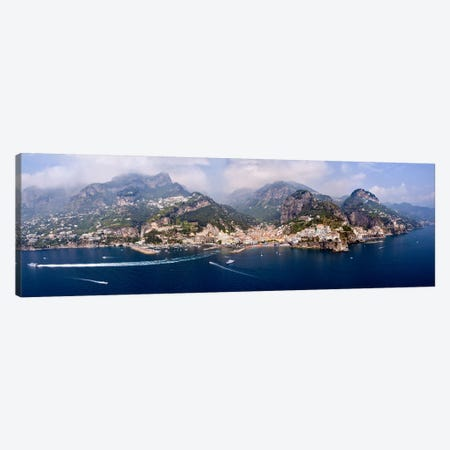 Aerial View Of Amalfi & Atrani, Amalfi Coast, Campania, South Tyrol, Italy Canvas Print #PIM8295} by Panoramic Images Canvas Print