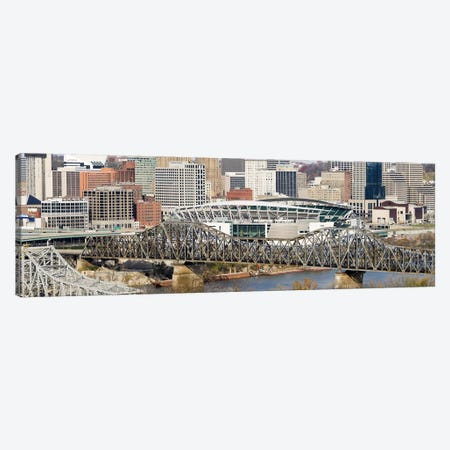 Bridge across a river, Paul Brown Stadium, Cincinnati, Hamilton County, Ohio, USA Canvas Print #PIM8298} by Panoramic Images Canvas Artwork