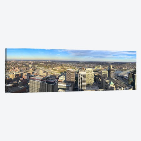 Aerial view of a city, Cincinnati, Hamilton County, Ohio, USA 2010 Canvas Print #PIM8299} by Panoramic Images Canvas Art