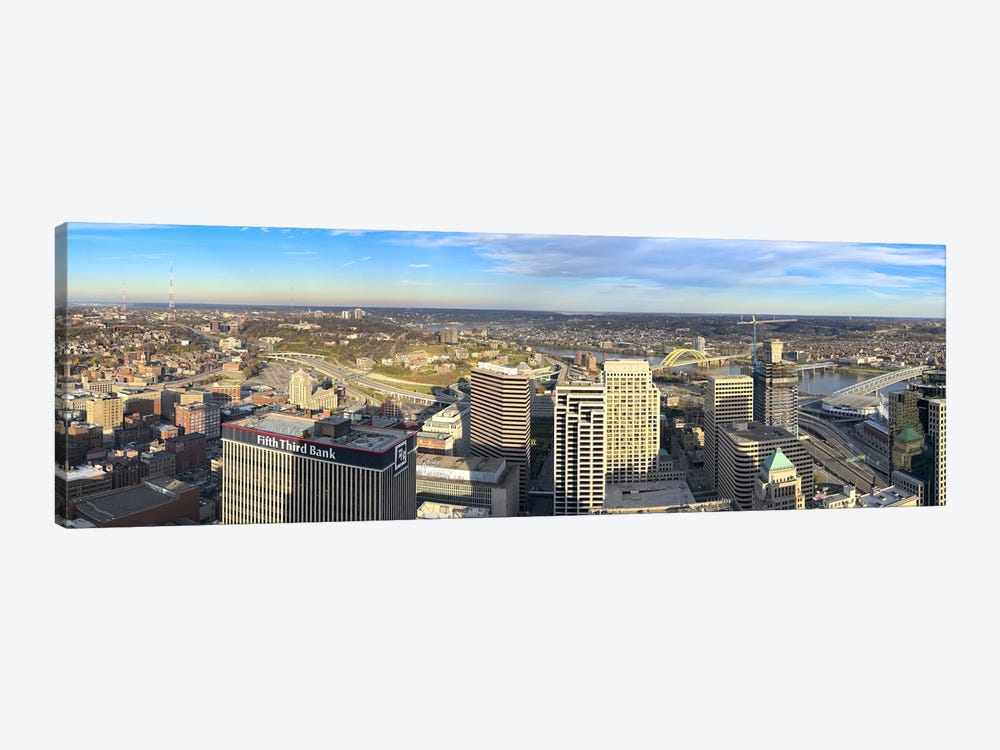 Aerial view of a city, Cincinnati, Hamilton County, Ohio, USA 2010 by Panoramic Images 1-piece Canvas Artwork