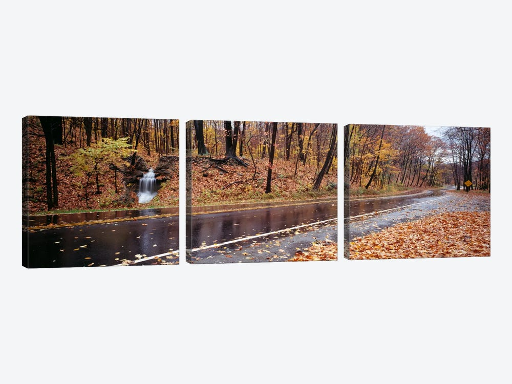 Roadside Waterfall, Euclid Creek Reservation, Euclid, Ohio, USA by Panoramic Images 3-piece Canvas Art