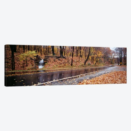 Roadside Waterfall, Euclid Creek Reservation, Euclid, Ohio, USA 3-Piece Canvas #PIM82} by Panoramic Images Canvas Art