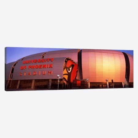 Facade of a stadium, University of Phoenix Stadium, Glendale, Phoenix, Arizona, USA Canvas Print #PIM8300} by Panoramic Images Canvas Art