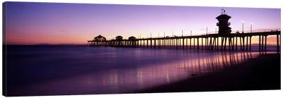Huntington Beach Pier At Dusk, Huntington Beach, Orange County, California, USA Canvas Print #PIM8307
