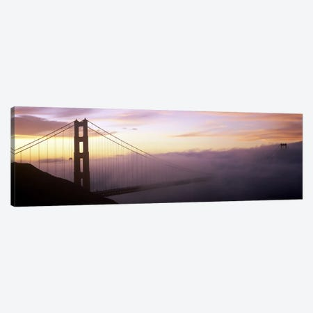 Fog Covered Golden Gate Bridge, San Francisco, California, USA Canvas Print #PIM8322} by Panoramic Images Canvas Art