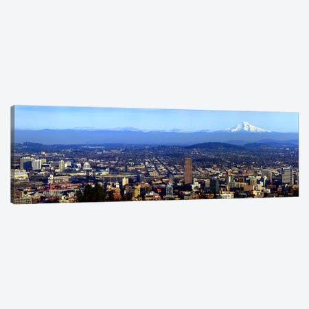 Buildings in a city viewed from Pittock Mansion, Portland, Multnomah County, Oregon, USA 2010 Canvas Print #PIM8328} by Panoramic Images Canvas Art