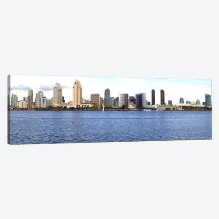 Buildings at the waterfront, view from Coronado Island, San Diego, California, USA 2010 Canvas Print #PIM8330} by Panoramic Images Art Print