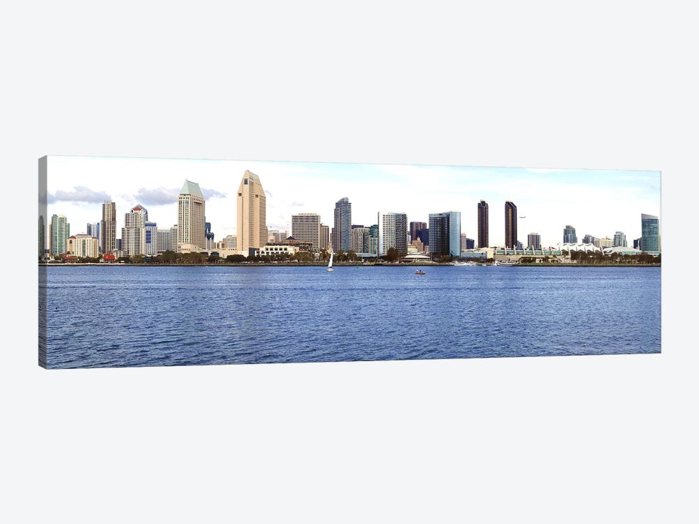 Buildings at the waterfront, view from Coronado Island, San Diego, California, USA 2010 by Panoramic Images 1-piece Canvas Art