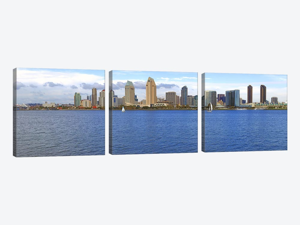 Buildings at the waterfront, San Diego, California, USA 2010 #9 3-piece Canvas Art Print