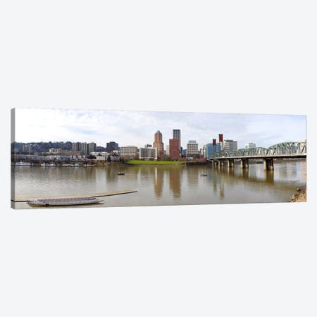 Buildings at the waterfront, Willamette River, Portland, Multnomah County, Oregon, USA 2010 Canvas Print #PIM8332} by Panoramic Images Canvas Print