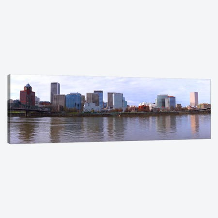 Buildings at the waterfront, Portland, Multnomah County, Oregon, USA Canvas Print #PIM8334} by Panoramic Images Canvas Artwork