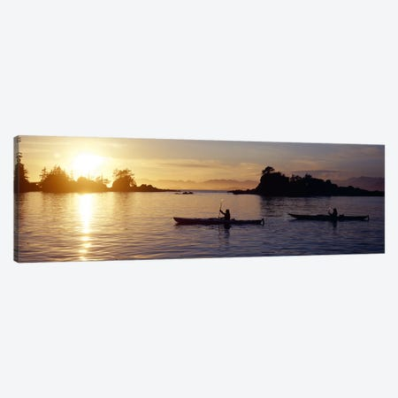 Sunset Over Broken Islands Group, Pacific Rim National Park Reserve, British Columbia, Canada Canvas Print #PIM8340} by Panoramic Images Canvas Artwork