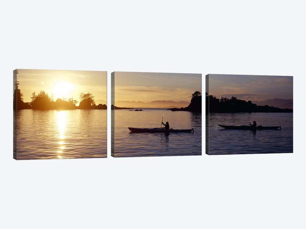 Sunset Over Broken Islands Group, Pacific Rim National Park Reserve, British Columbia, Canada by Panoramic Images 3-piece Canvas Art Print