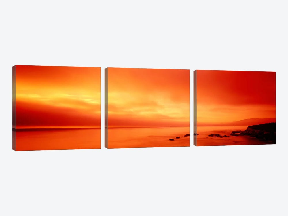 Pacific Coast CA by Panoramic Images 3-piece Canvas Wall Art