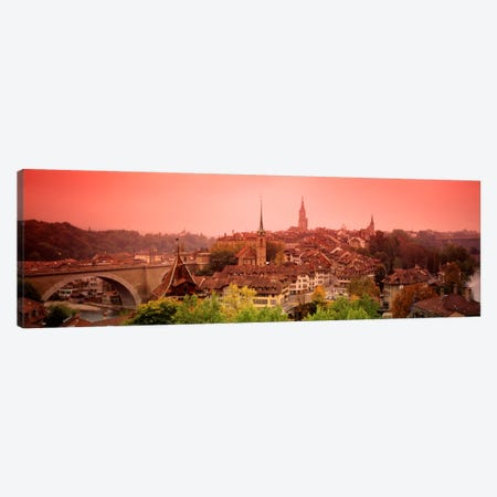 Dusk Bern Switzerland Canvas Print #PIM836} by Panoramic Images Canvas Artwork
