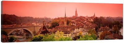 Dusk Bern Switzerland Canvas Print #PIM836