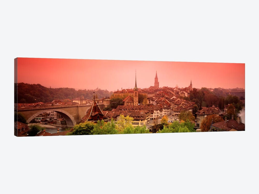Dusk Bern Switzerland 1-piece Canvas Wall Art