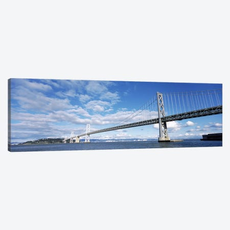 Bridge across a bay, Bay Bridge, San Francisco Bay, San Francisco, California, USA Canvas Print #PIM8385} by Panoramic Images Canvas Art Print