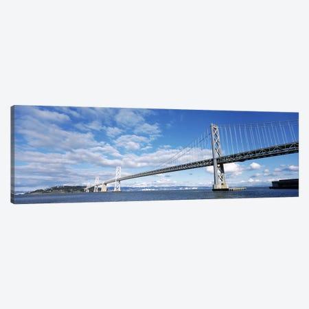 Bridge across a bay, Bay Bridge, San Francisco Bay, San Francisco, California, USA Canvas Print #PIM8385} by Panoramic Images Canvas Art Print