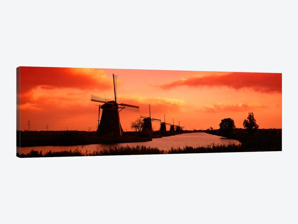 Windmills Holland Netherlands by Panoramic Images 1-piece Art Print