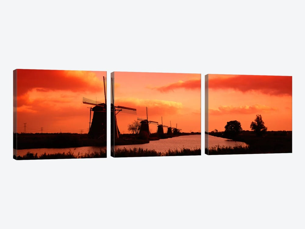 Windmills Holland Netherlands by Panoramic Images 3-piece Art Print