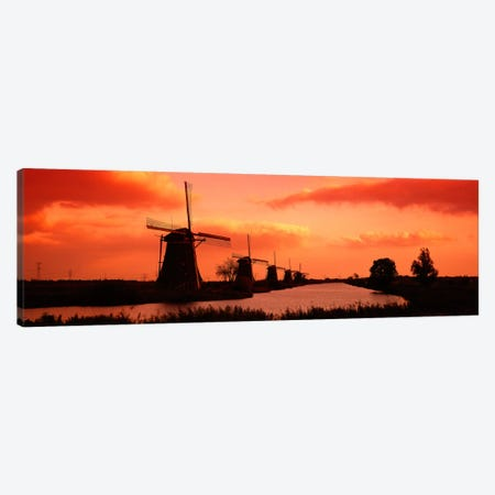 Windmills Holland Netherlands Canvas Print #PIM839} by Panoramic Images Canvas Print