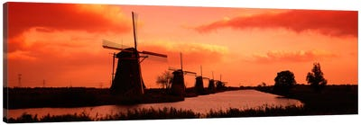 Windmills Holland Netherlands Canvas Art Print