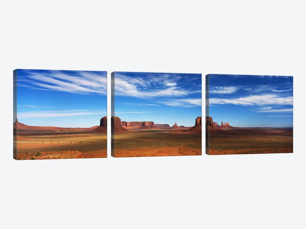 Monument Valley, Navajo Nation, Colorado Plateau, USA by Panoramic Images 3-piece Art Print