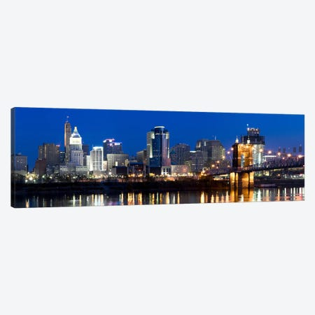 Skyscrapers in a cityCincinnati, Ohio, USA Canvas Print #PIM8412} by Panoramic Images Canvas Wall Art