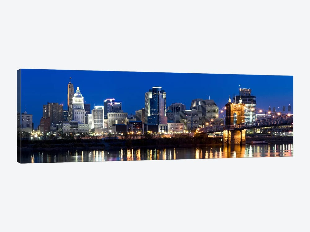 Skyscrapers in a cityCincinnati, Ohio, USA by Panoramic Images 1-piece Art Print