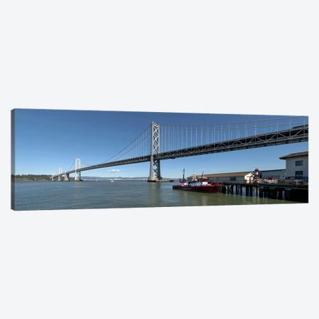 Bridge across a bay, Bay Bridge, San Francisco Bay, San Francisco, California, USA #2 Canvas Print #PIM8413} by Panoramic Images Canvas Artwork
