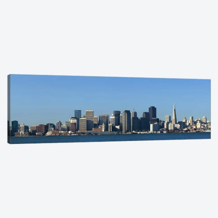 CaptionCity at the waterfront, San Francisco Bay, San Francisco, California, USA 2010 Canvas Print #PIM8416} by Panoramic Images Art Print
