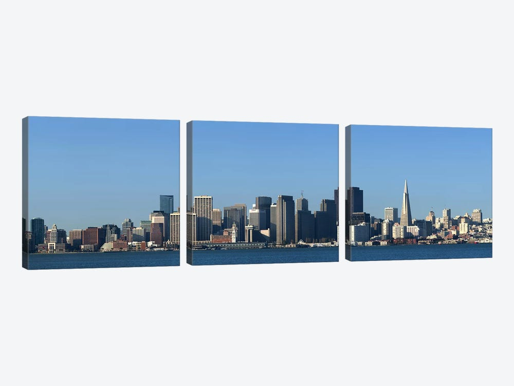 CaptionCity at the waterfront, San Francisco Bay, San Francisco, California, USA 2010 by Panoramic Images 3-piece Art Print