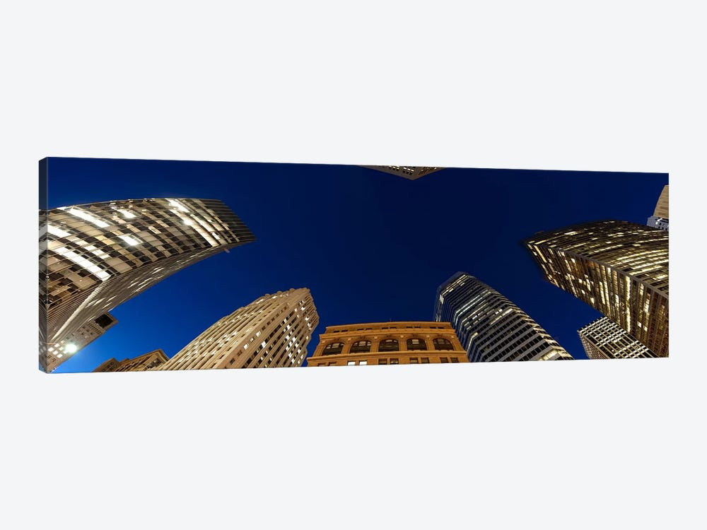 Low angle view of high-rise buildings at dusk, San Francisco, California, USA by Panoramic Images 1-piece Canvas Artwork