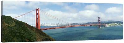 Suspension bridge across a bayGolden Gate Bridge, San Francisco Bay, San Francisco, California, USA Canvas Print #PIM8420