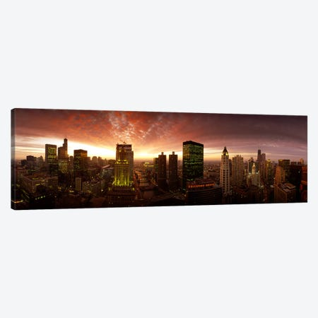 Sunset cityscape Chicago IL USA Canvas Print #PIM8423} by Panoramic Images Canvas Print