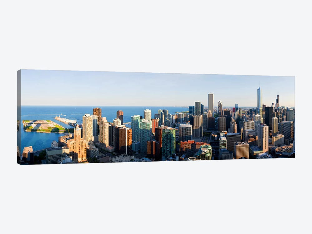 Buildings in a city, Chicago, Cook County, Illinois, USA 2010 by Panoramic Images 1-piece Canvas Art
