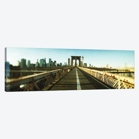 City viewed from Brooklyn BridgeManhattan, New York City, New York State, USA Canvas Print #PIM8430} by Panoramic Images Canvas Wall Art