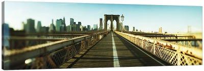 City viewed from Brooklyn BridgeManhattan, New York City, New York State, USA Canvas Print #PIM8430