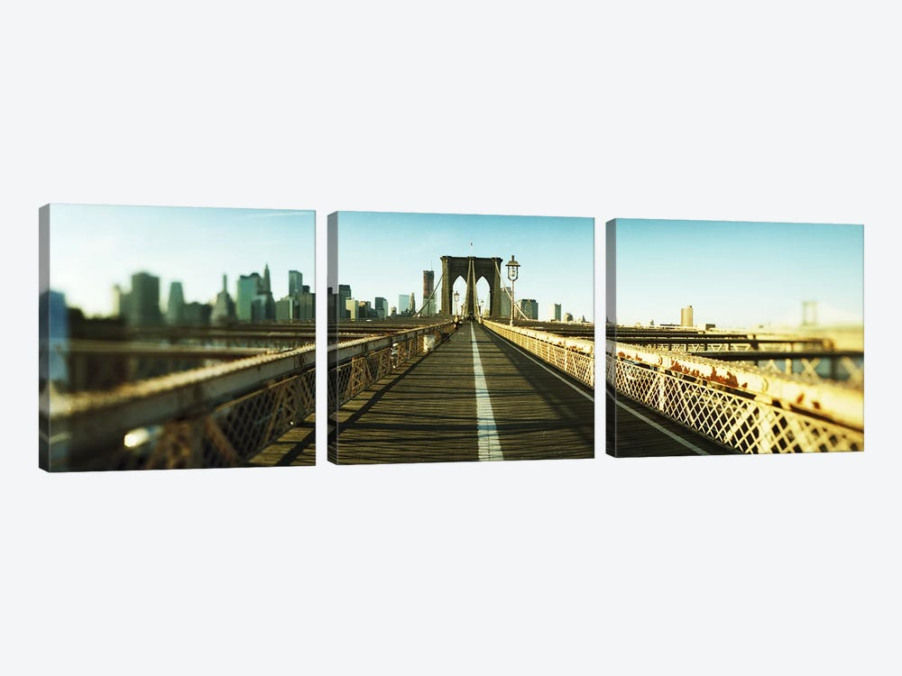 City viewed from Brooklyn BridgeManhattan, New York City, New York State, USA by Panoramic Images 3-piece Canvas Art Print