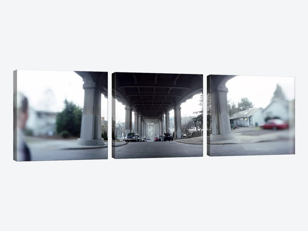 Low angle view of a bridgeFremont Bridge, Fremont, Seattle, Washington State, USA by Panoramic Images 3-piece Canvas Art