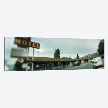 Motel at the roadside, Aurora Avenue, Seattle, Washington State, USA Canvas Print #PIM8435} by Panoramic Images Canvas Art Print