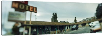Motel at the roadside, Aurora Avenue, Seattle, Washington State, USA Canvas Print #PIM8435