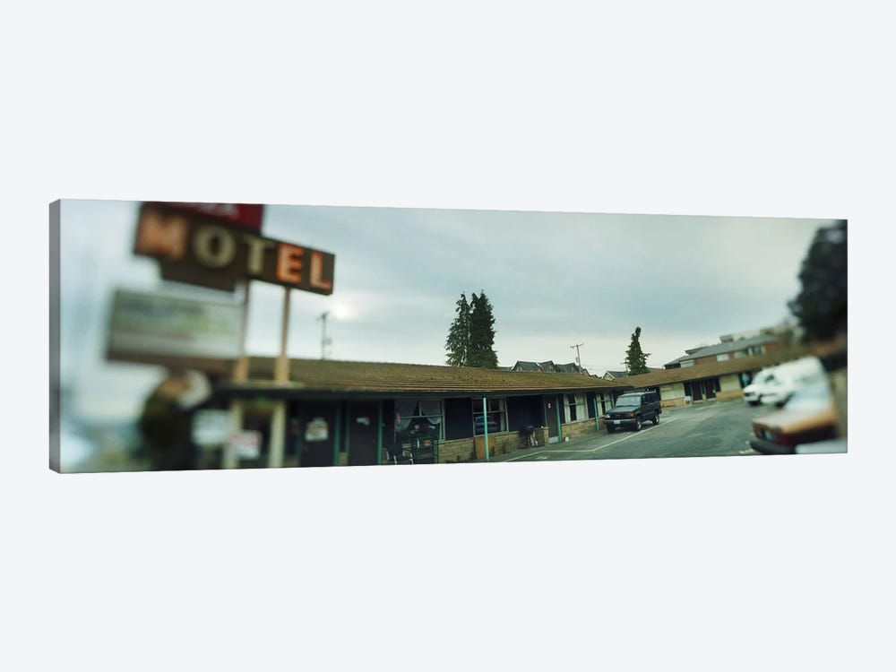 Motel at the roadside, Aurora Avenue, Seattle, Washington State, USA by Panoramic Images 1-piece Canvas Art