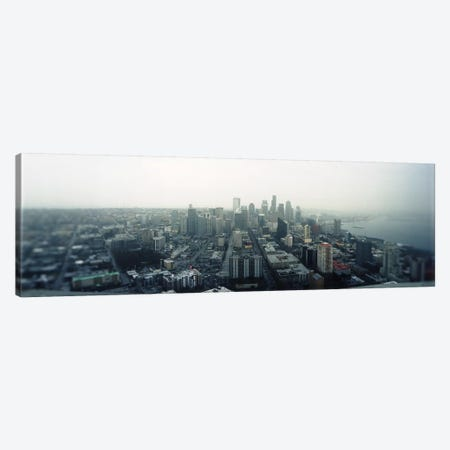 City viewed from the Space Needle, Queen Anne Hill, Seattle, Washington State, USA 2010 Canvas Print #PIM8437} by Panoramic Images Canvas Art Print
