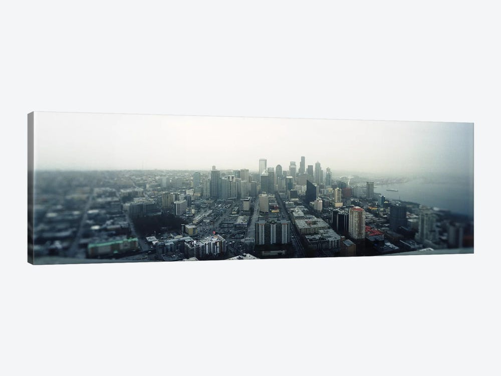 City viewed from the Space Needle, Queen Anne Hill, Seattle, Washington State, USA 2010 by Panoramic Images 1-piece Canvas Artwork