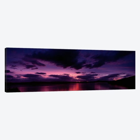 Dramatic Purple Sunset, Applecross Peninsula, Wester Ross, Highland, Scotland, United Kingdom Canvas Print #PIM8443} by Panoramic Images Canvas Print