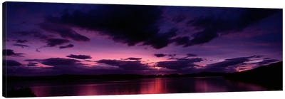 Dramatic Purple Sunset, Applecross Peninsula, Wester Ross, Highland, Scotland, United Kingdom Canvas Print #PIM8443