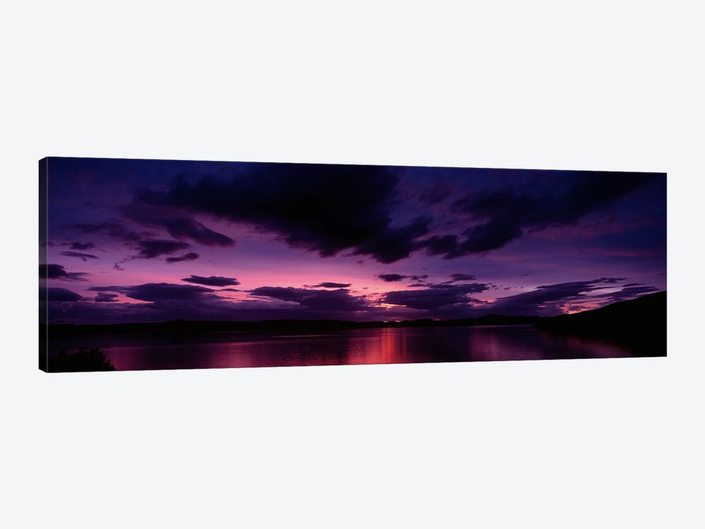 Dramatic Purple Sunset, Applecross Peninsula, Wester Ross, Highland, Scotland, United Kingdom by Panoramic Images 1-piece Art Print